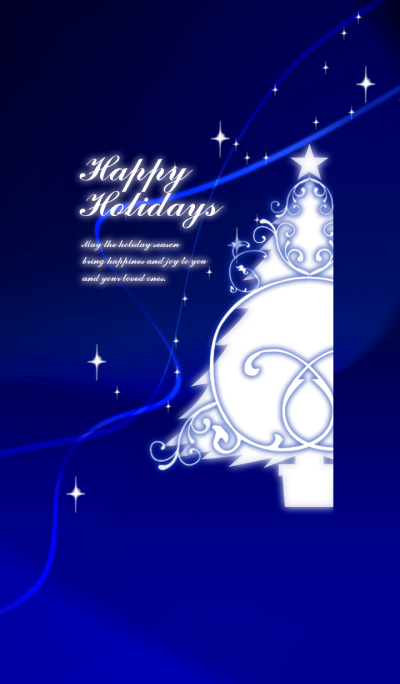 Happy Holidays -blue-