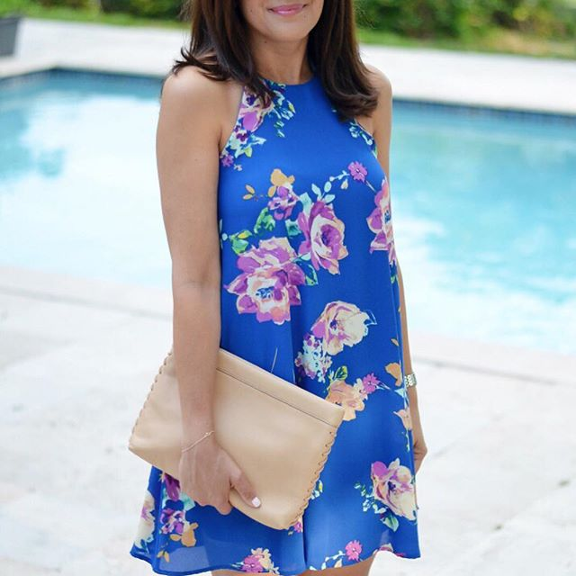 floral-trapeze-summer-dress