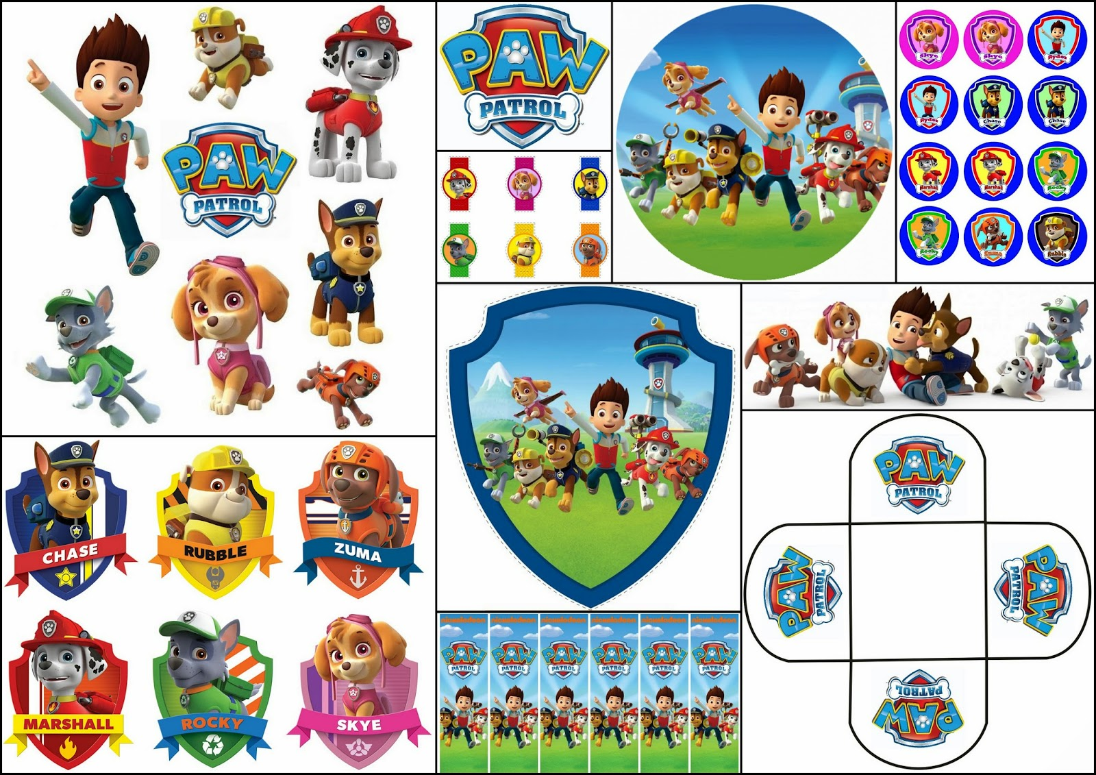 graphic relating to Printable Paw Patrol named Paw Patrol No cost Printable Package. - Oh My Fiesta! within english
