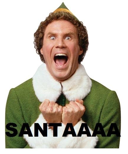 Elf shouting Santaaaaaaaaaaa