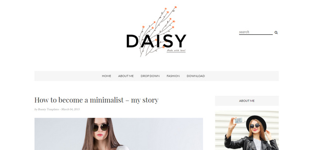 Daisy Clean And Personal Responsive Blogger Templates