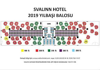 svalin hotel yilbasi etkinligi izmir