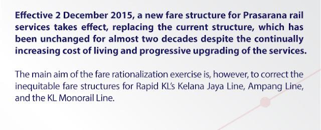 Struktur Tambang baru untuk Perkhidmatan LRT & Monorel