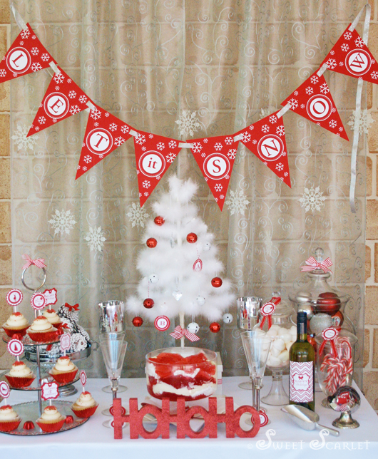 Christmas Party Themes: Kara's Party Ideas 'Let It Snow' Christmas Party!