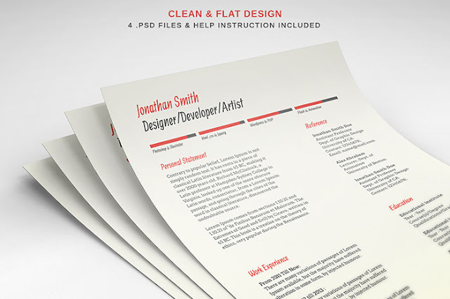Free Resume & Cover Letter PSD Templates
