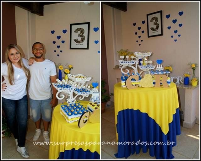decoração azul e amarela