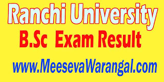 Ranchi University B.Sc Basic Nursing I Sem 2014-15 Exam Result