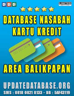 Jual Database Nasabah Kartu Kredit Balikpapan