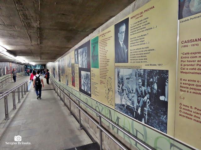 Vista dos Painéis em homenagem à Semana de Arte Moderna - Metrô Santa Cecília - Campos Elíseos - São Paulo
