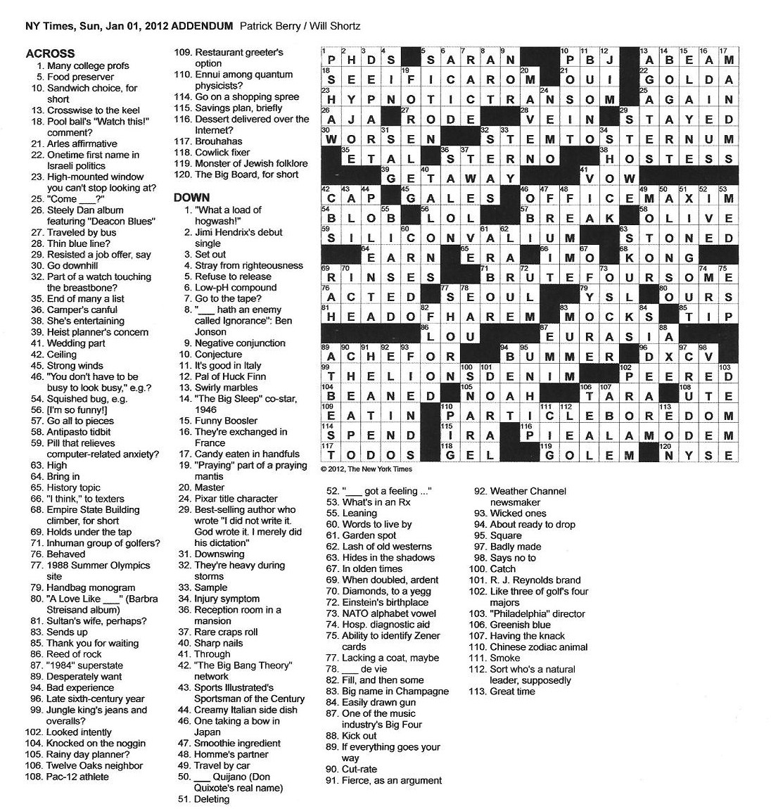 ea96d74168 The New York Times Crossword in Gothic  01.01.12 — Addendum