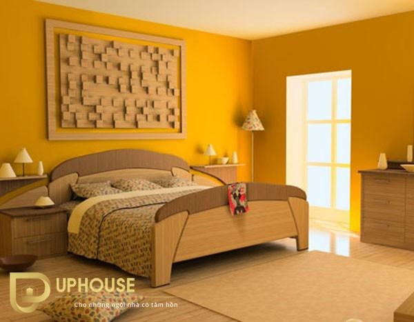 Phòng ngủ màu vàng kem 03