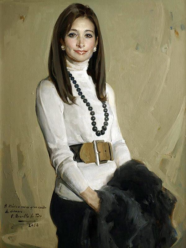 Retrato de Mónica, Félix Revello de Toro, Revello de Toro, Pintores Malagueños, Retratos de Revello de Toro, Pintor español, Pintores de Málaga