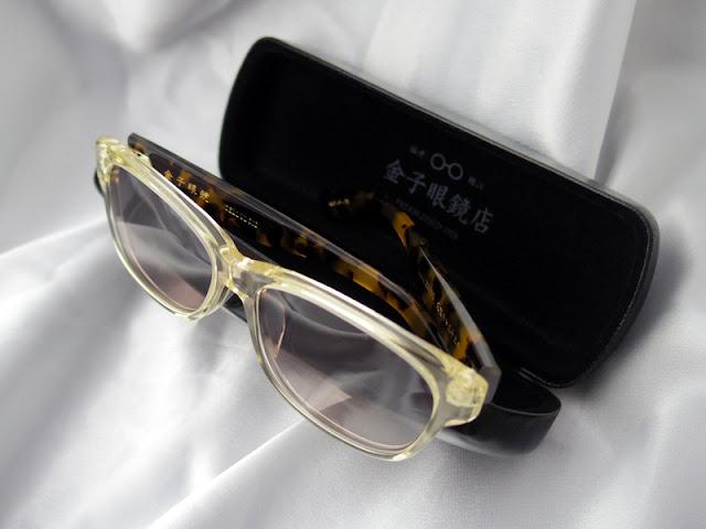 金子眼鏡のセルロイド サングラス