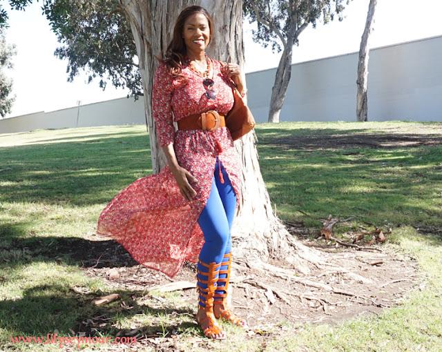 Fashion | Red Sheer Maxi Dress