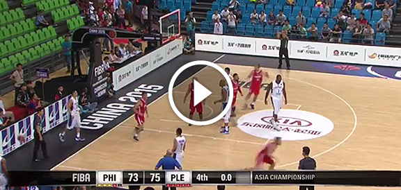 Fiba Asia 2015: Palestine Upsets Gilas Pilipinas, 75-73 (COMPLETE REPLAY VIDEO)