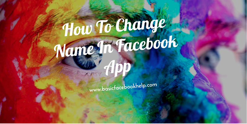 How To Change Name In Facebook App