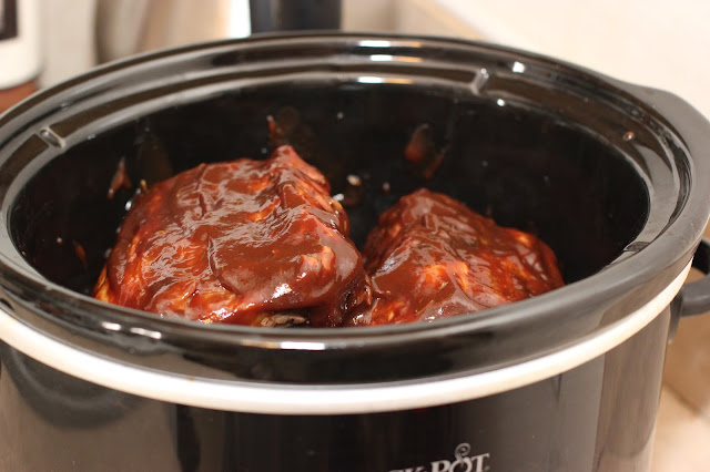 Crockpot Pepsi Ribs.  These literally fall RIGHT off the bone.