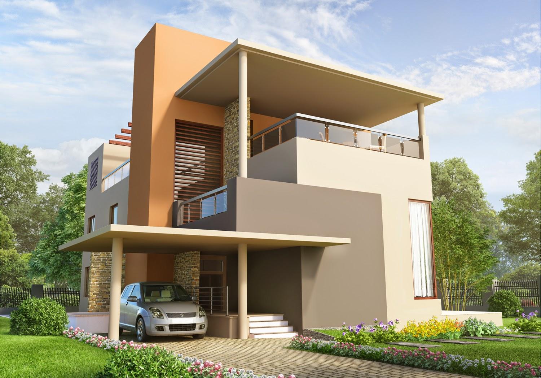 The art of vikram singh bungalows 3d design for asian paints - Asian paints exterior visualizer ...