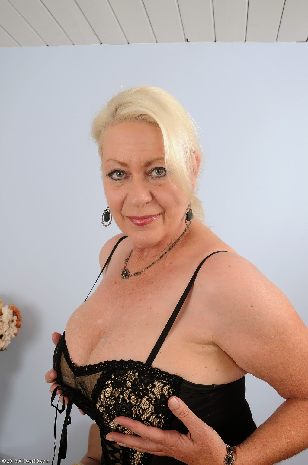 old naked granny in lingerie