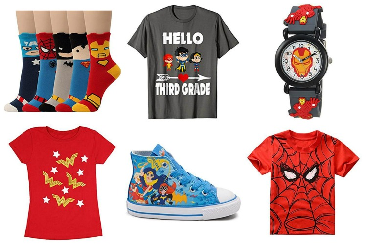 back to school super hero clothing