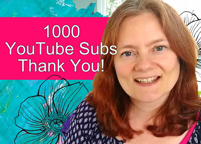 I've reached 1000 subs on YouTube - Thank You video by Kim Dellow