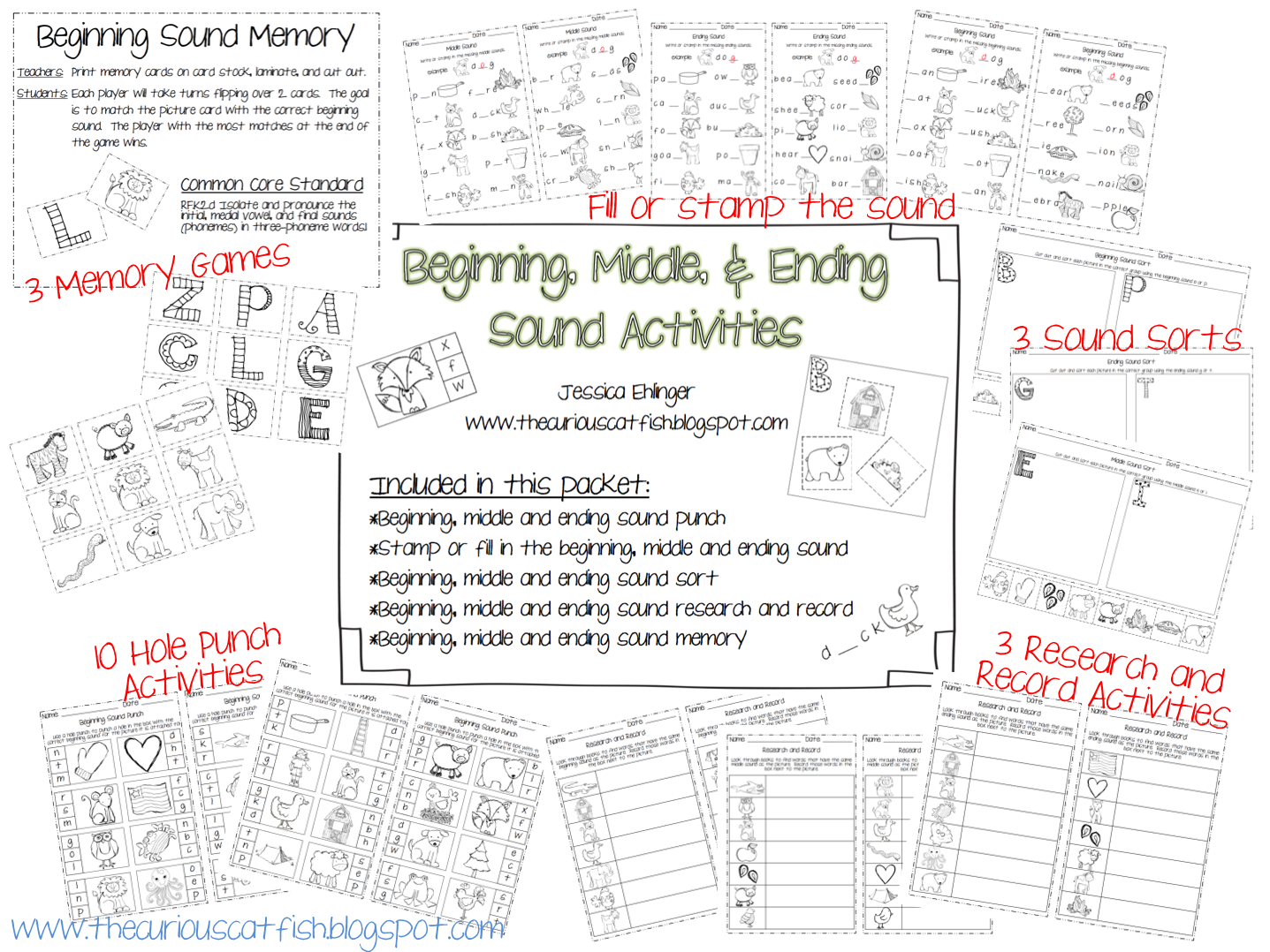 Beginning Middle And Ending Sound Activities