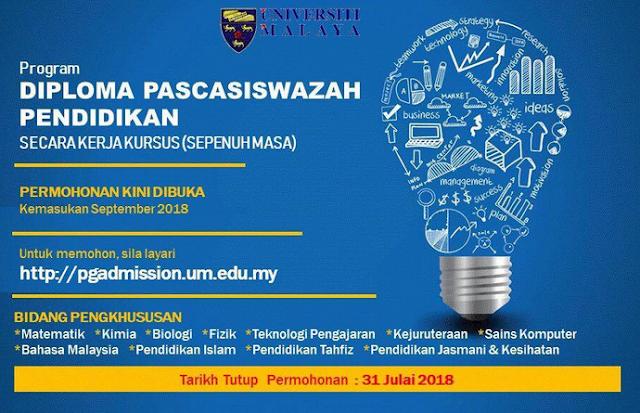 Permohonan Diploma Pendidikan Lepasan Ijazah (DPLI) Online