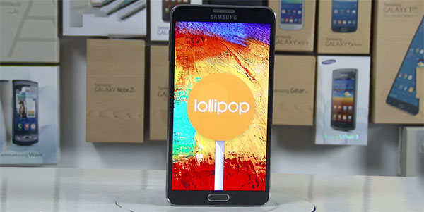 Galaxy Note 3 running Android 5.0 Lollipop