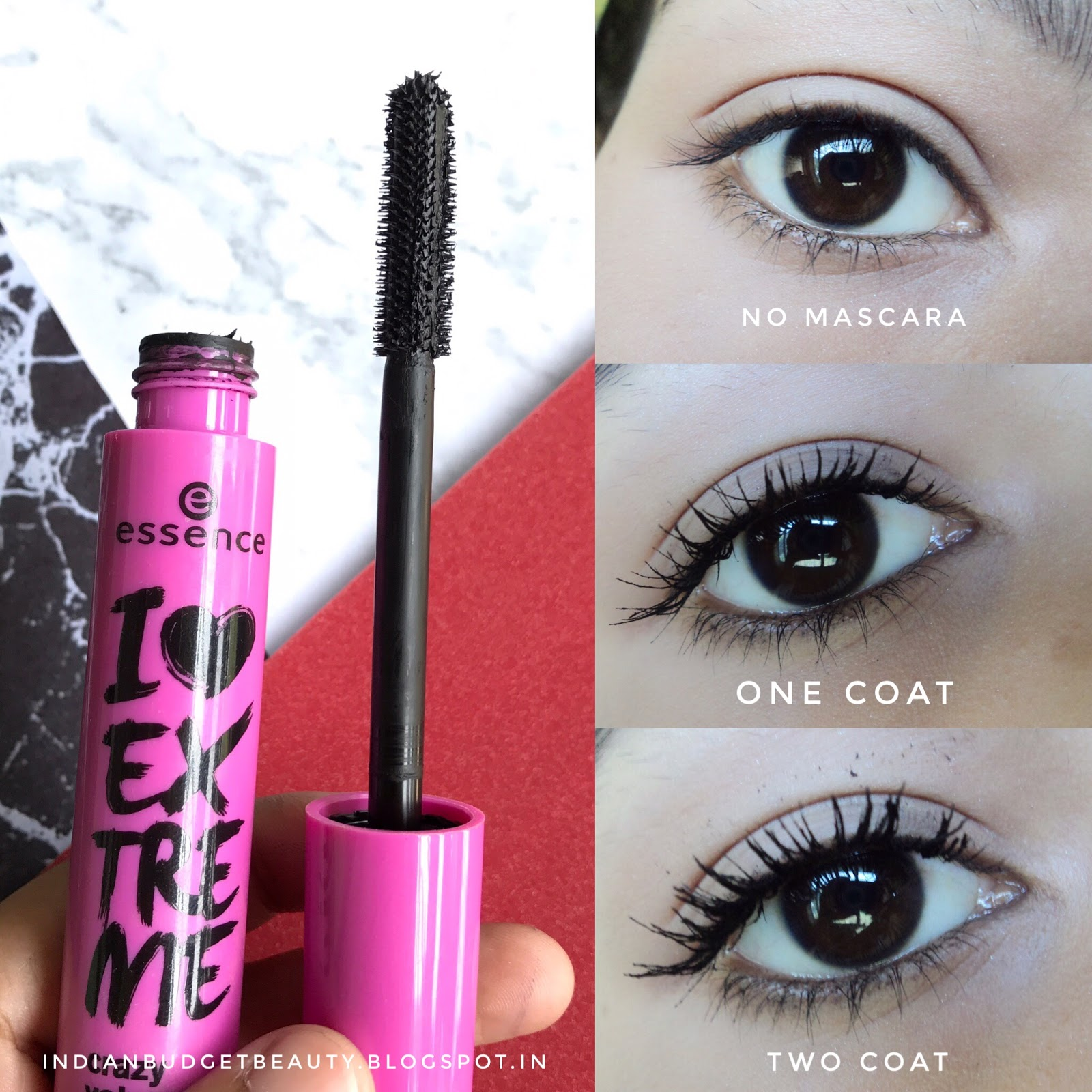 essence i love extreme crazy volume mascara review best mascaras under indian budget. Black Bedroom Furniture Sets. Home Design Ideas