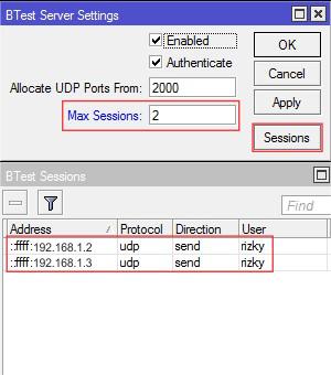bandwidth test di mikrotik