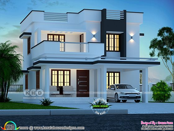 3 bedroom 1700 sq.ft modern home design