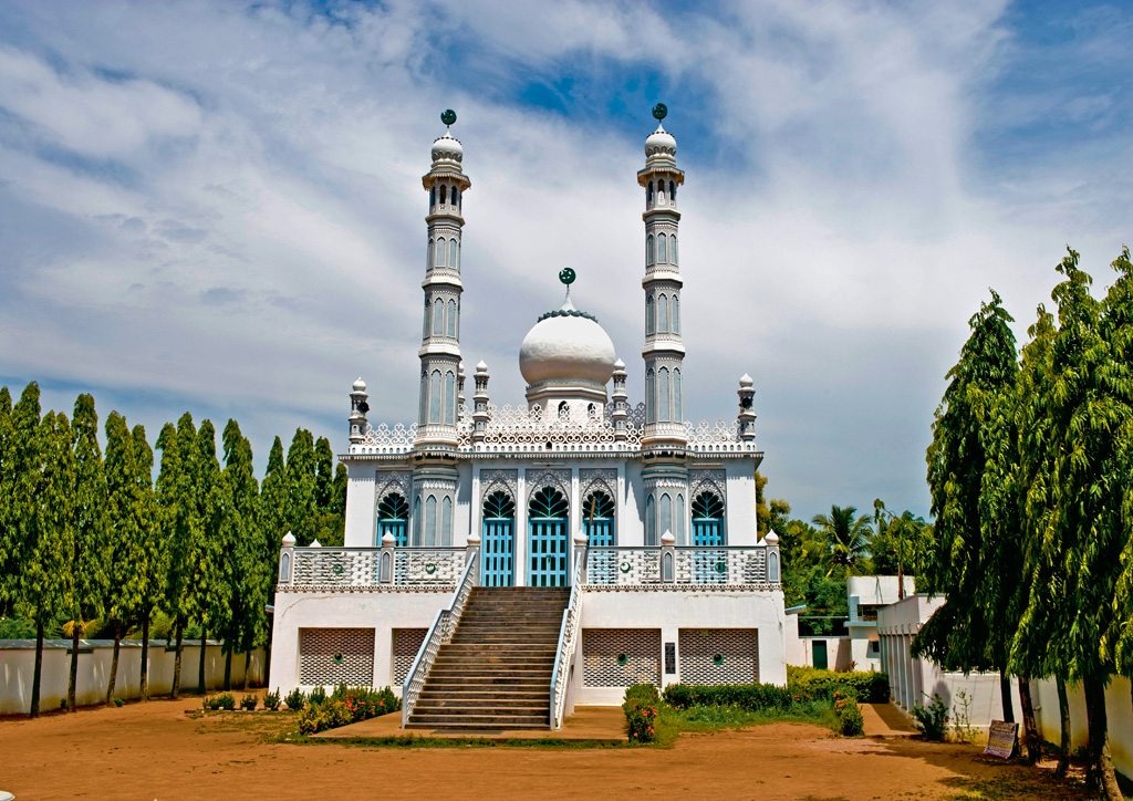 Historic Nawab Chanda Sahib mosque inside the Vellore Fort