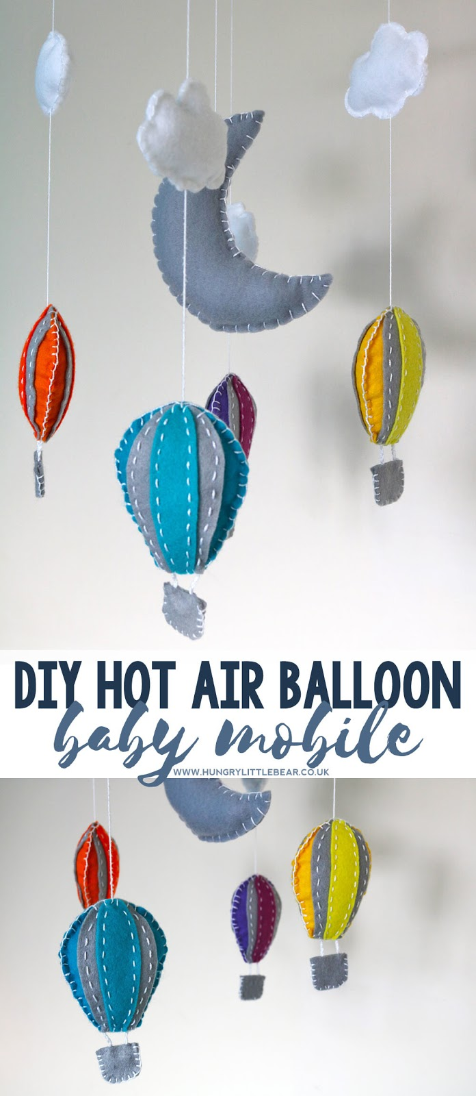DIY Hot Air Balloon Baby Mobile Tutorial | Hungry Little Bear