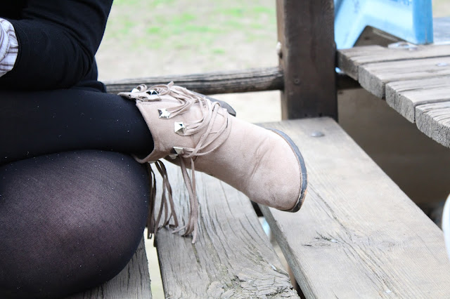 college girl fringe boots