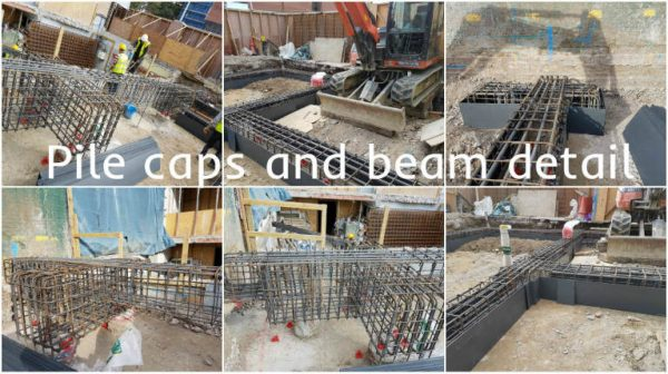 Piled Foundations Caps and Beams in Rare Construction Situations