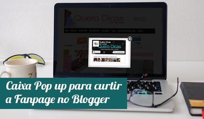 Caixa Pop up para curtir a Fanpage no Blogger