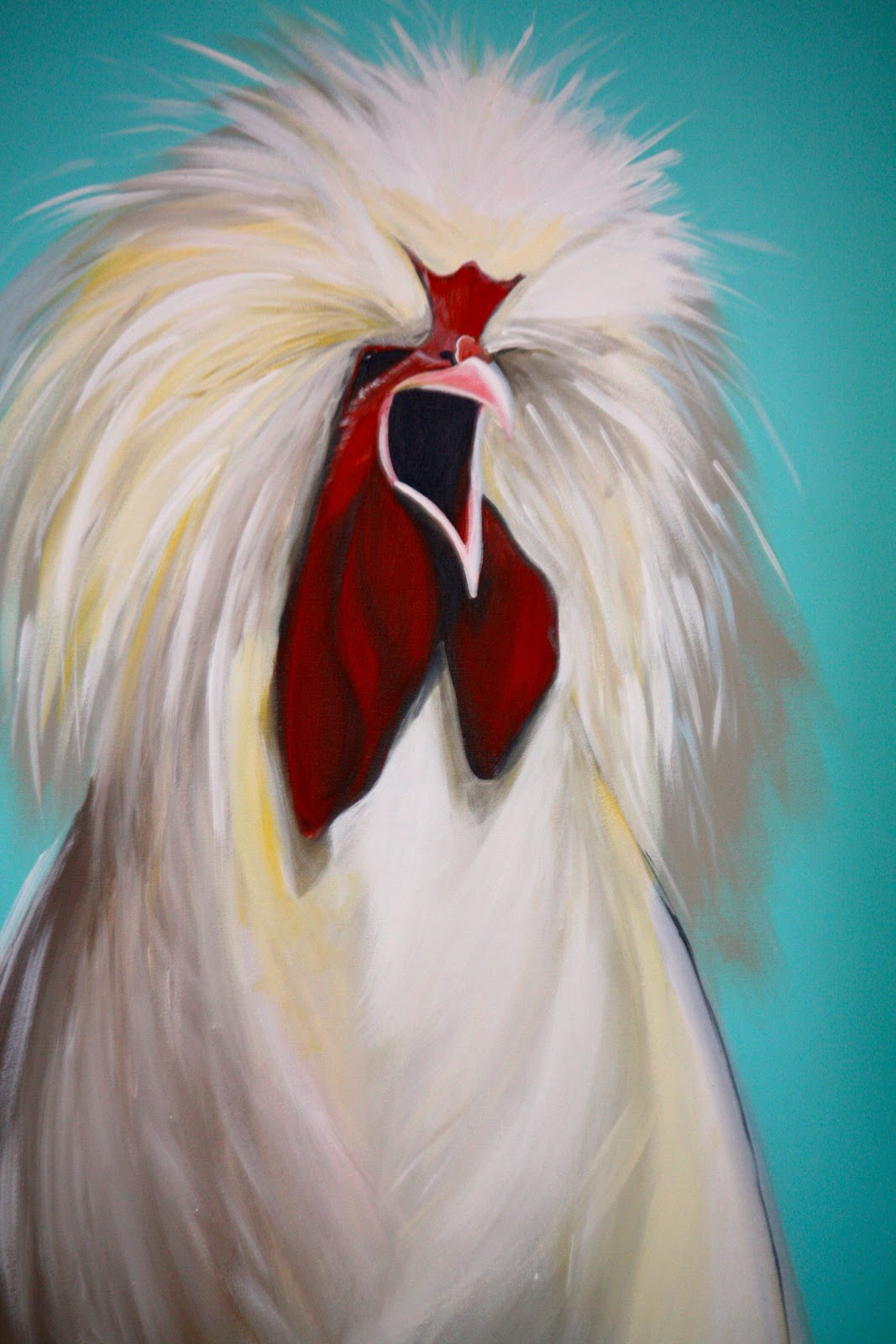 Joan The Fluffy Chicken Painting
