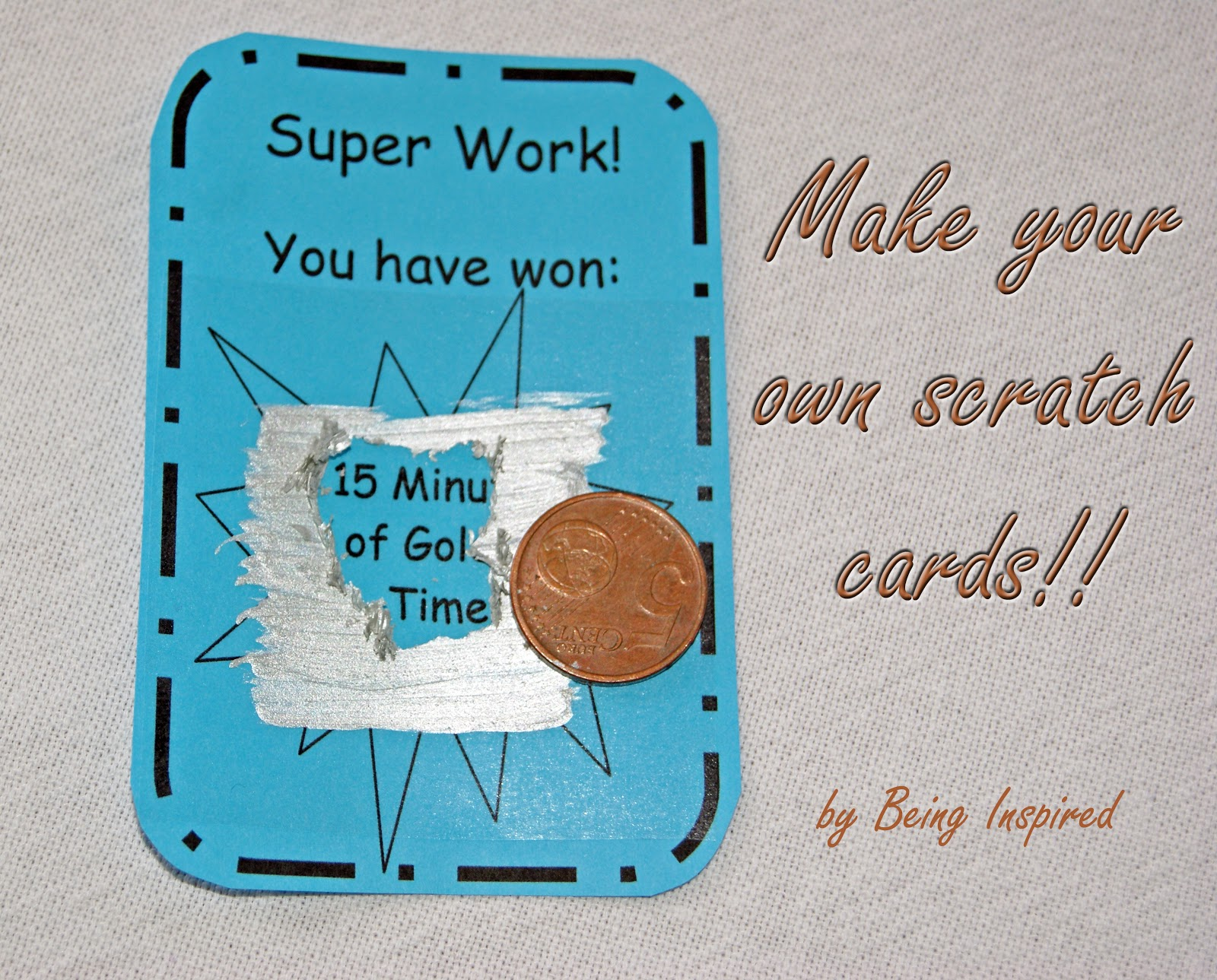 being inspired day 30  make your own scratch cards