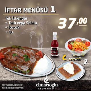elmacıoğlu iskender kayseri ramazan  iftar menüleri kayseri iftar mekanları