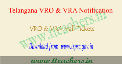 TS VRO exam hall ticket 2017 download, Telangana vra hall tickets