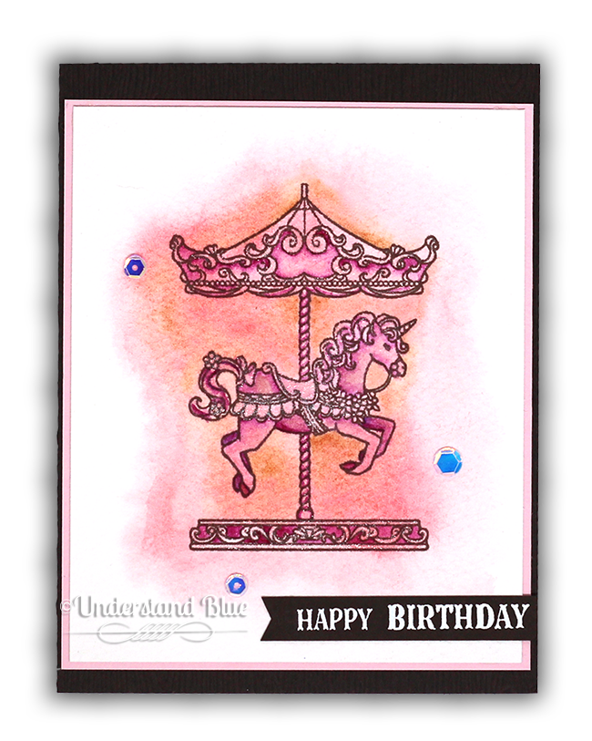 Pink Carousel Card by Understand Blue