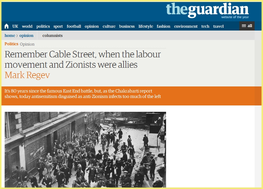 Tony Greenstein's Blog: The Battle of Cable Street – When