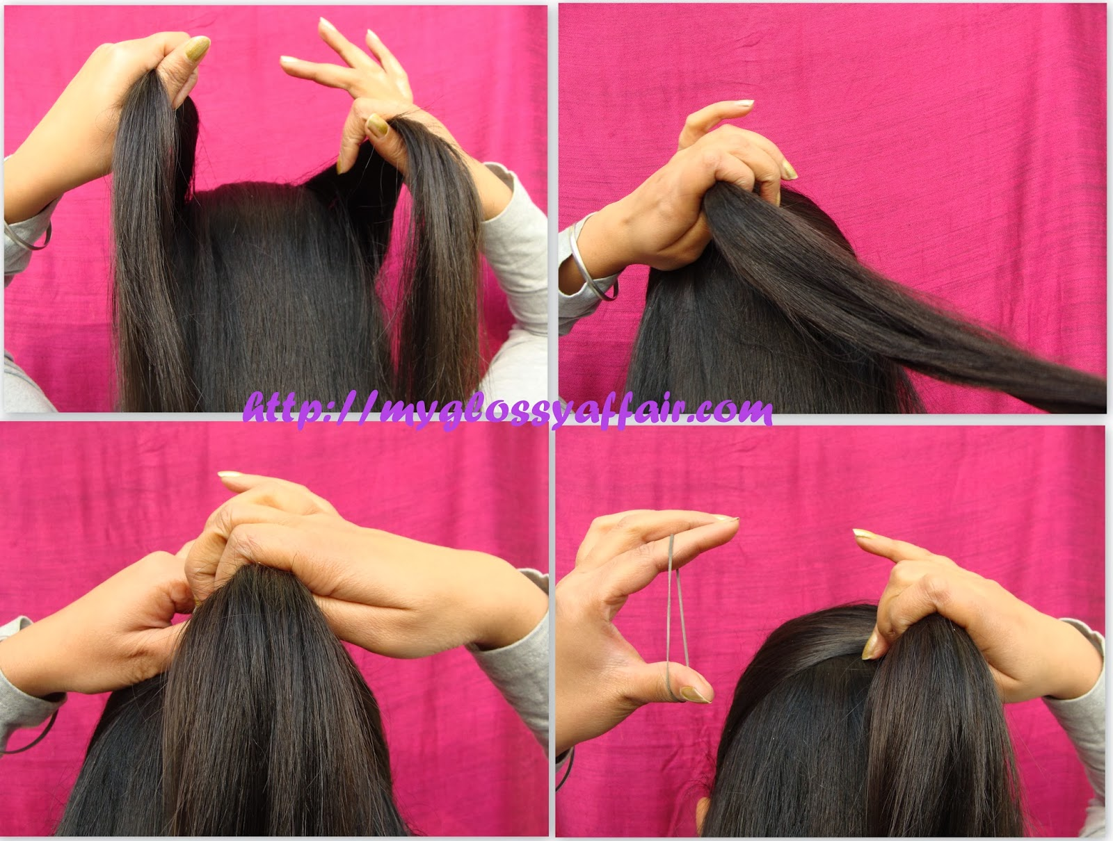 A Simple Bow Hairstyle For Medium Long Hair
