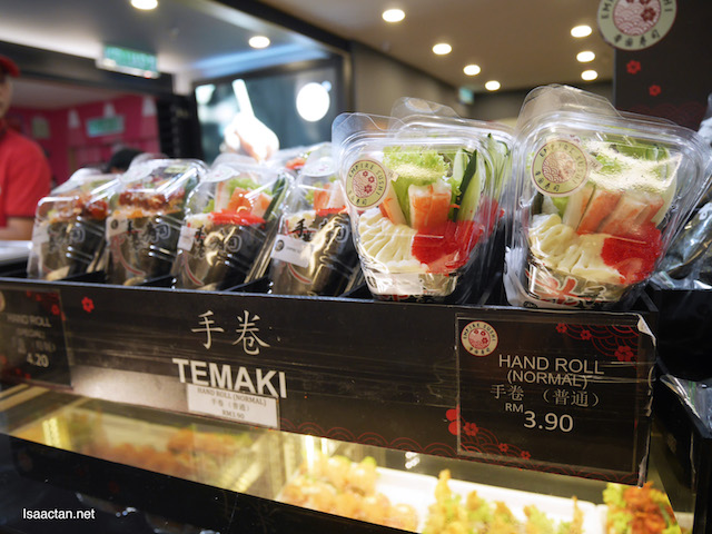 Temaki and Hand Rolls, all neatly packed