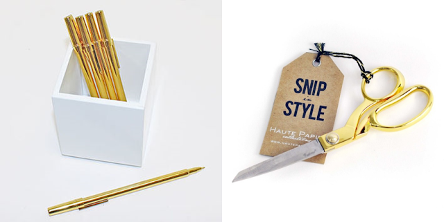 Office DIY: Gold Scissors and Gold Pencils for $1!