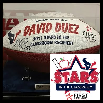 HOUSTON TEXANS ALL-STAR TEACHER 2017