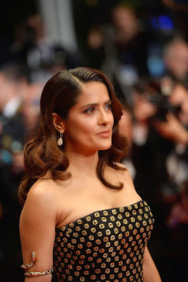 Salma Hayek in a strapless gown at 'The Tale of Tales' Cannes Film Festival Premiere