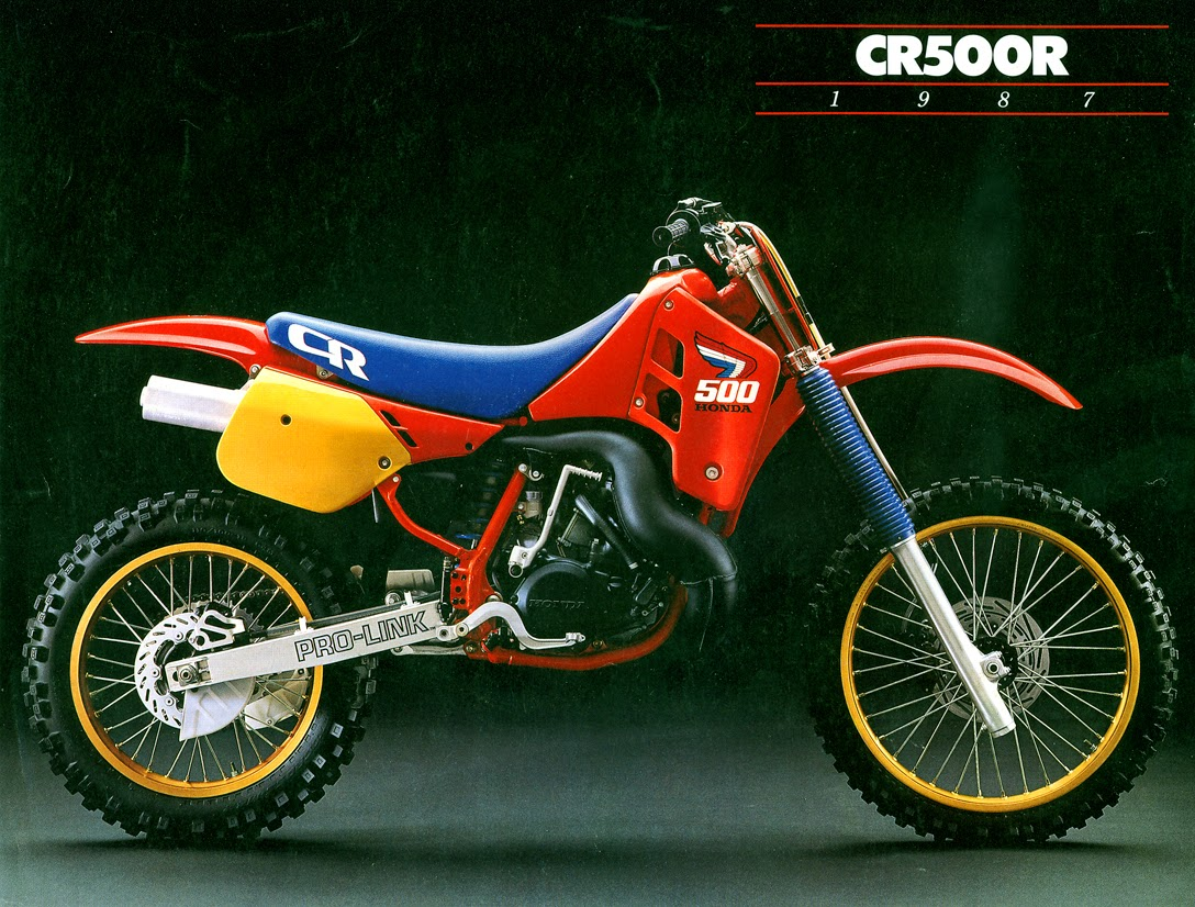 racing caf vintage brochures honda cr 500 r 1987 usa. Black Bedroom Furniture Sets. Home Design Ideas