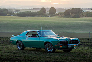1970 Mercury Cougar Eliminator 428 Cobra Jet Green Side Picture