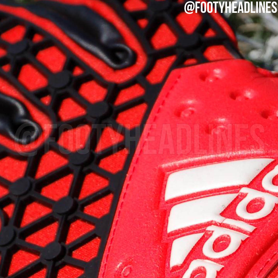 Adidas Goalkeeper Gloves Fingersave Allround Red Adidas Ace 2015-20...